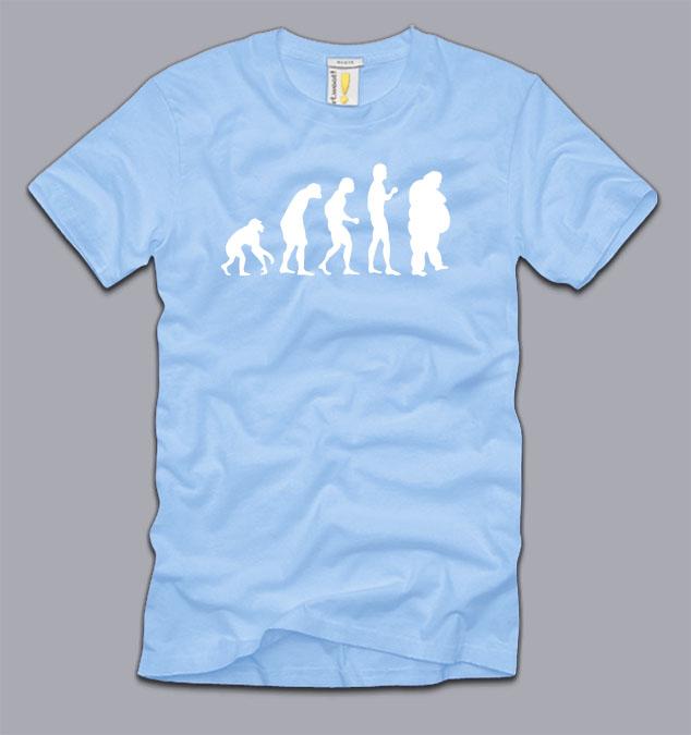 Fat Evolution Ladies T Shirt S M L Xl Women Funny